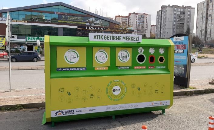 Gebze'ye mobil atık toplama merkezleri