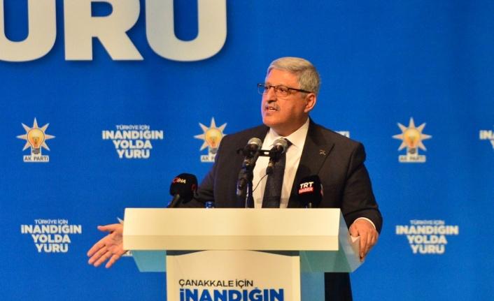 AK Parti Genel Başkan Yardımcısı Demiröz, partisinin Çanakkale il kongresinde konuştu: