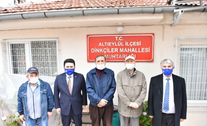 Altıeylül Belediye Başkanı Avcı, mahalle muhtarlarıyla görüştü