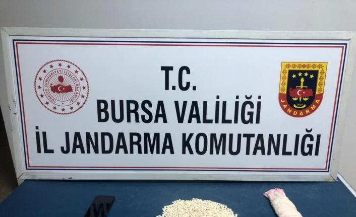 Bursa'da kırlentin içine gizlenmiş 1821 adet uyuşturucu hap ele geçirildi