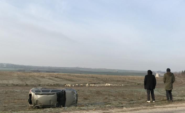 Edirne'de tarlaya devrilen cipin sürücüsü yaralandı