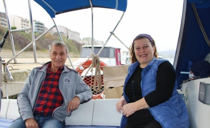 Evlerini satıp tekne kiralayarak denize açılan çift 6 yıldır