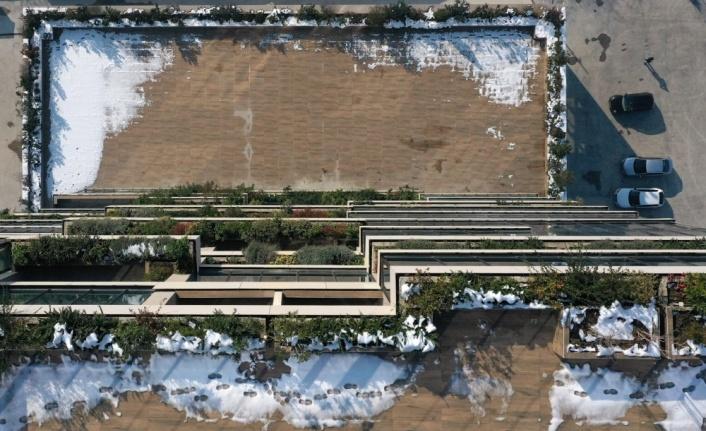 Kentsel dönüşümle yapılan bina 528 ağaç ve 1400 bitki türüne ev sahipliği yapıyor