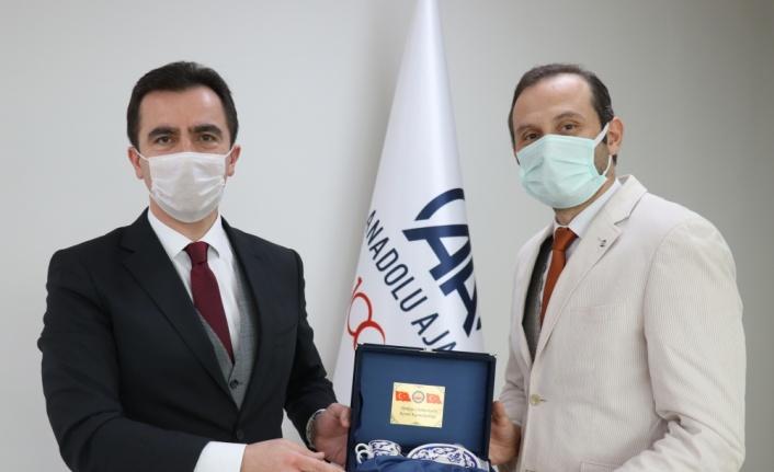 Kestel Kaymakamı Karakaya, AA Bursa Bölge Müdürü Aksoy'u ziyaret etti