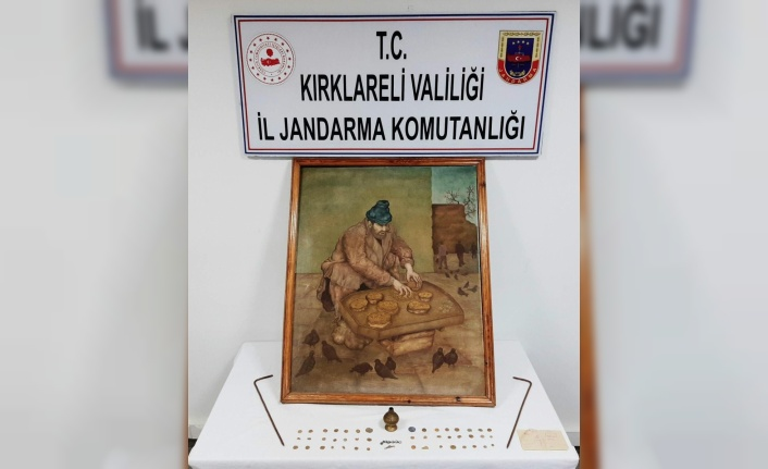 Kırklareli'nde Osmanlı dönemine ait tabloyu satmaya çalıştığı öne sürülen zanlı yakalandı