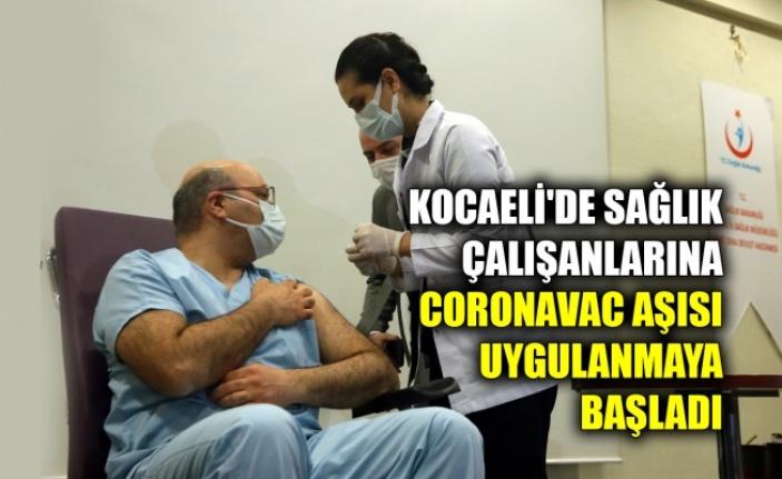 Kocaeli'de CoronoVac aşısı sağlık çalışanlarına uygulanmaya başlandı