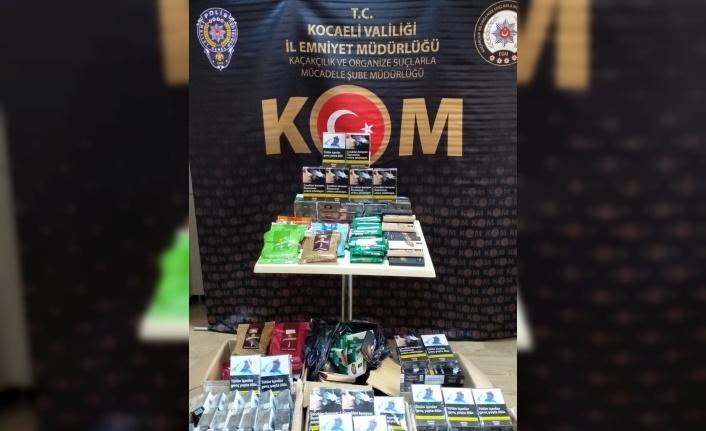 Kocaeli'de kaçak elektronik sigara ve tütün operasyonları