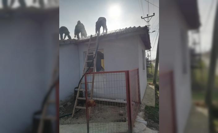 Lüleburgaz'da ev yangını maddi hasara neden oldu