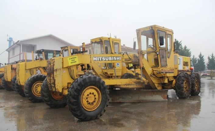 Sakarya'da karla mücadele için hazırlıklar tamamlandı