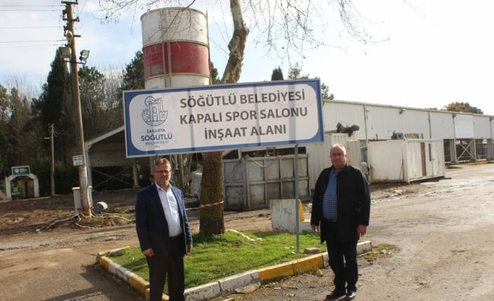 Söğütlü'de spor salonunun altyapı çalışmalarına başlandı