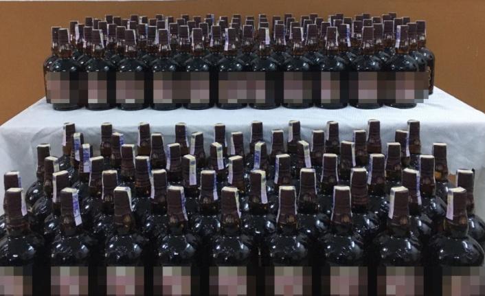Tekirdağ'da 165 şişe kaçak içki ele geçirildi, 4 şüpheli gözaltına alındı