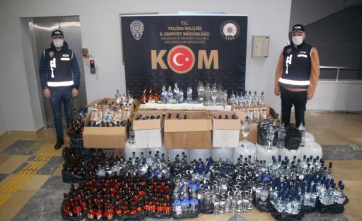 Yalova'da kaçak içki imalathanesine baskında iki kişi gözaltına alındı