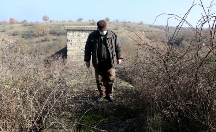 Edirne'de tarihi su yolundaki kemerin kaçak kazıyla tahrip edildiği iddia edildi