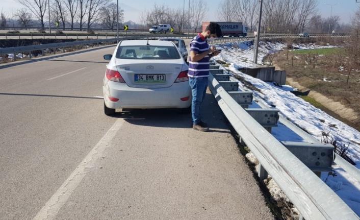 2 otomobilin çarpışması sonucu 4 yaşındaki çocuk yaralandı