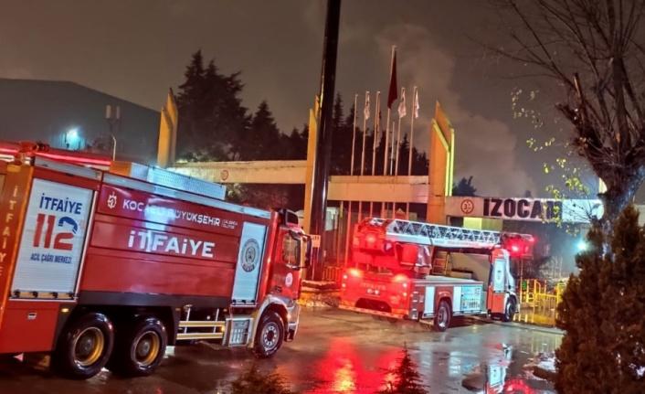 Dilovası'nda  fabrikada çıkan yangın söndürüldü
