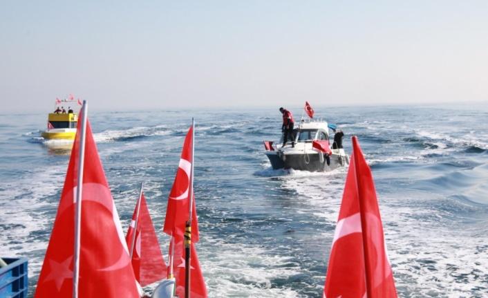 Marmara Denizi'nde 79 yıl önce batan Kurtuluş gemisi anısına tören yapıldı