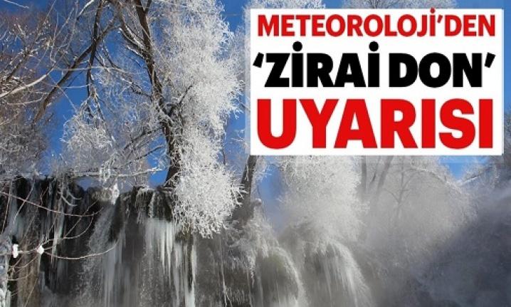 Meteorolojiden Eskişehir, Bursa, Kütahya ve Bilecik için zirai don uyarısı
