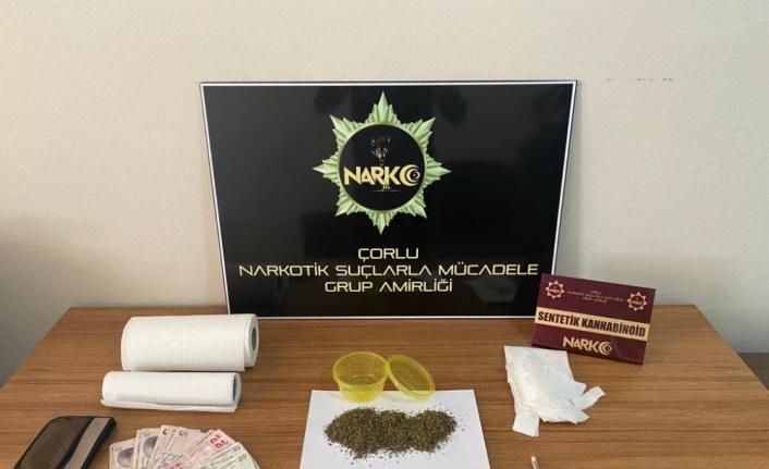 Tekirdağ'da uyuşturucu şüphelisi 3 kişi yakalandı