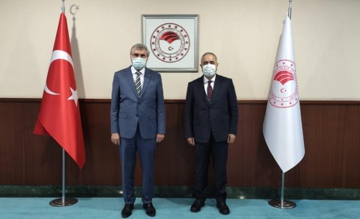 Başkan Yüce'den Tarım ve Orman Bakan Yardımcısı Mehmet Tunç'a ziyaret
