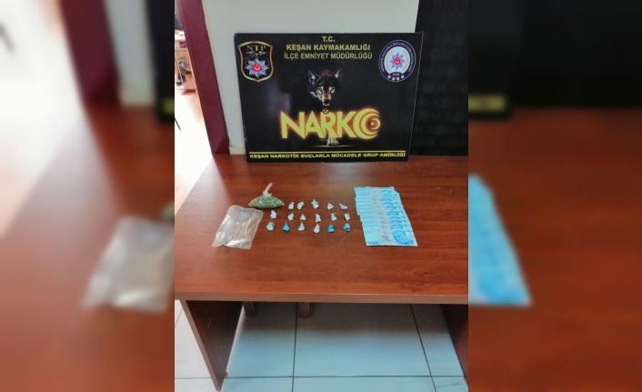 Keşan'da uyuşturucu operasyonu düzenlendi