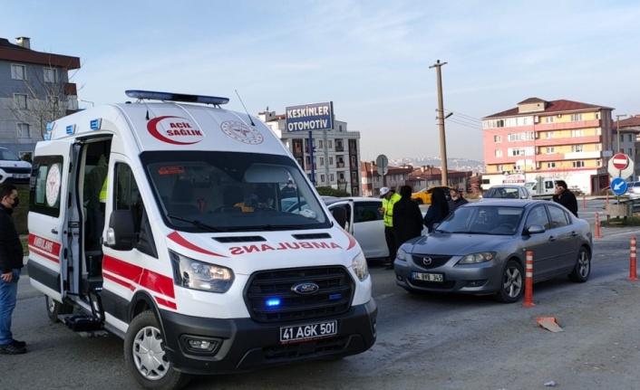 Kocaeli'de zincirleme trafik kazasında 1 kişi yaralandı
