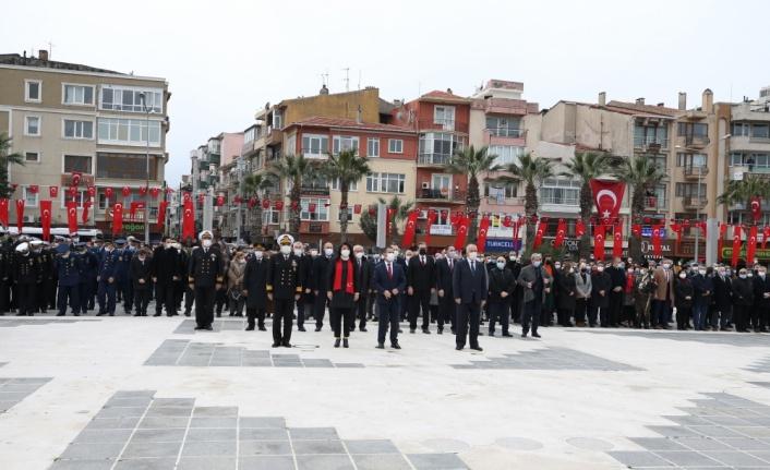 Şehitleri Anma Günü ve Çanakkale Deniz Zaferi'nin 106. yılı törenleri başladı