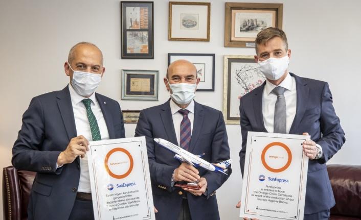 SunExpress, Turuncu Çember Hijyen Sertifikası'nı aldı