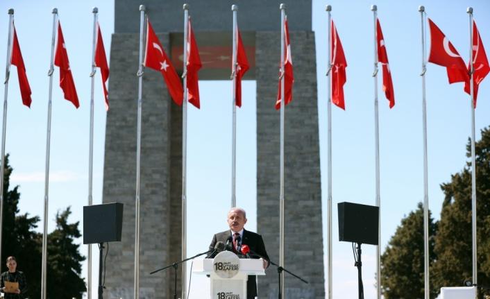 TBMM Başkanı Mustafa Şentop, 18 Mart Şehitleri Anma Günü ve Çanakkale Deniz Zaferi Töreni'nde konuştu: