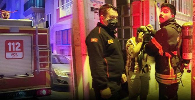Aydın'da klima motoru patladı: Bir aile dumandan etkilendi