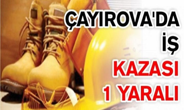 Çayırova'da  iş kazası: 1 yaralı
