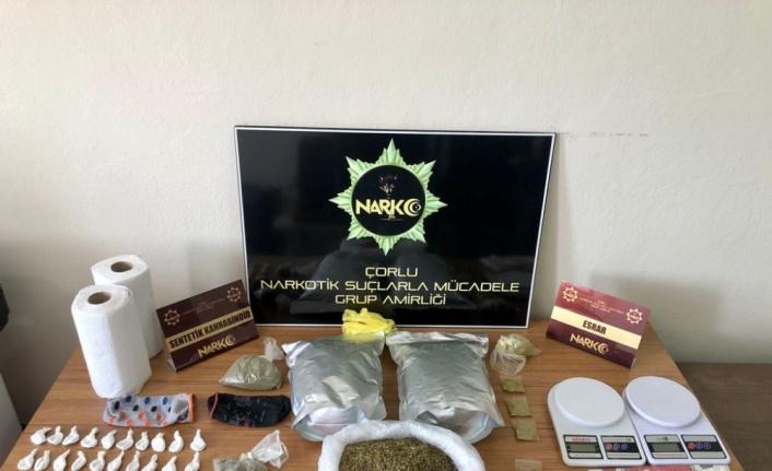 Çorlu'da 2 kilogram uyuşturucu ele geçirildi