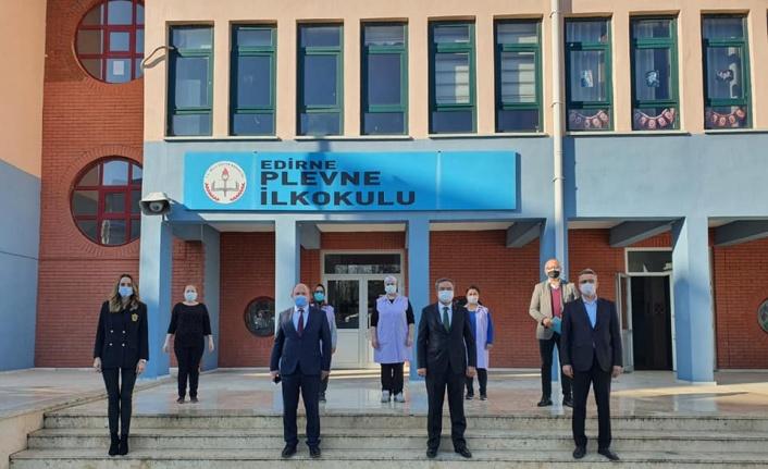 Edirne'deki okullarda Kovid-19 denetimi