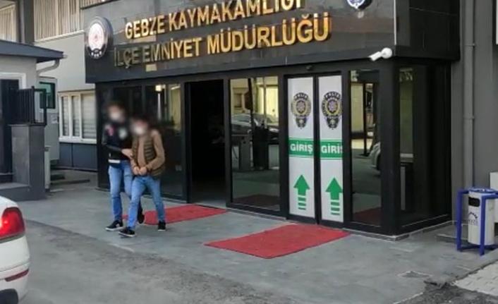 Gebze'de yankesicilik iddiasıyla gözaltına alınan 2 şüpheliden biri tutuklandı