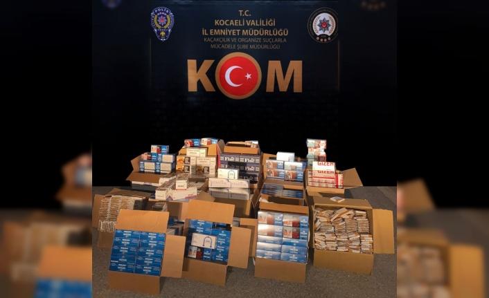Kocaeli'de 124 bin adet makaron ele geçirildi