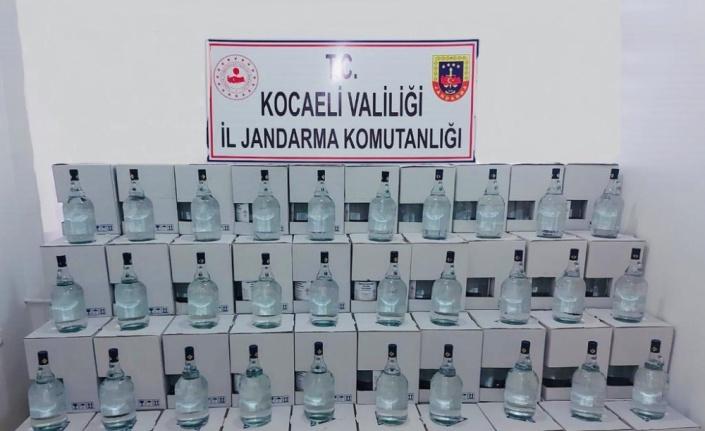 Kocaeli'de 2 bin 500 litre kaçak alkol ele geçirildi