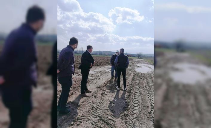Mudanya'da sağanaktan zarar gören tarım arazilerinde inceleme yapıldı