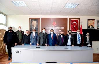 Malatya'da Başkan Gürkan'dan gazetecilere ziyaret