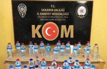 Sakarya'da kaçak alkol operasyonu