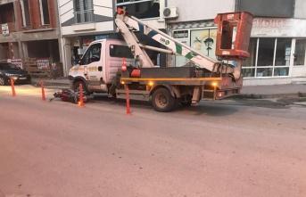 Bursa'da kamyonetle çarpışan motosikletin sürücüsü ağır yaralandı