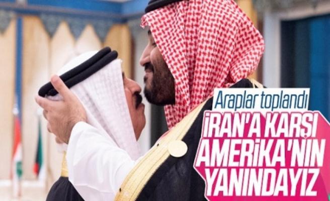Araplar toplandı: İran'a karşı ABD'nin yanındayız