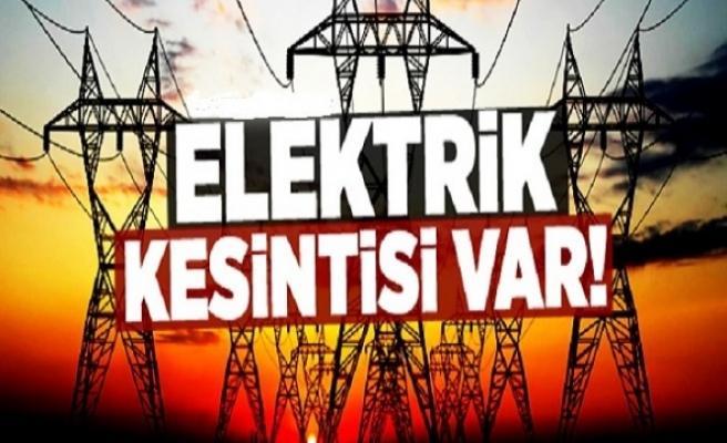 Bu mahallelerde elektrikler kesilecek