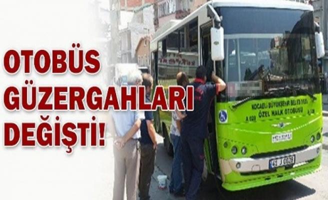 Halk otobüsü güzergahları değişti