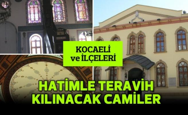 Kocaeli'de 19 camide hatimle teravih kılınacak