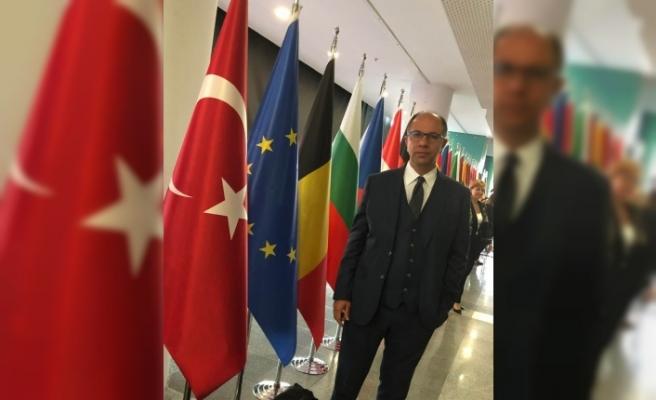 Mustafa Ercan, AB'ye girdi