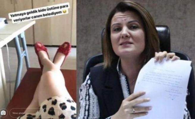 Belediyeye yatmaya gelen kadın istifa etti