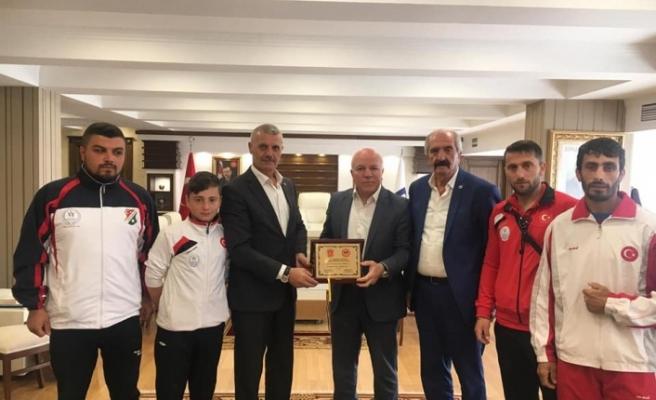 Altay Spor İhtisas, Erzurum Protokolünü ziyaret etti