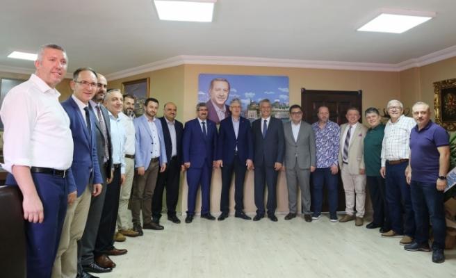KOTO'dan, AK Parti İl Başkanı Ellibeş'e 'hayırlı olsun' ziyareti