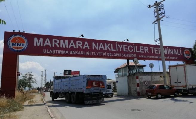 Marmara Nakliyeciler terminali tahliye edildi