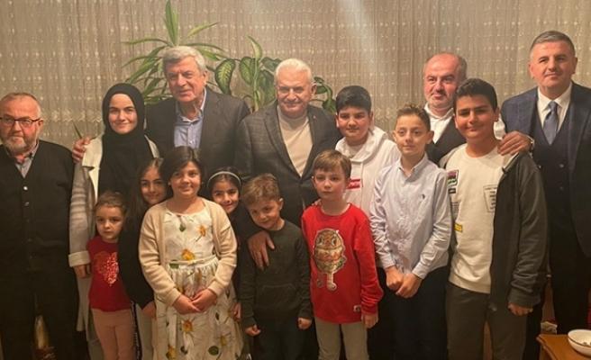 Binali Yıldırım, Karaosmanoğlu'na misafir oldu