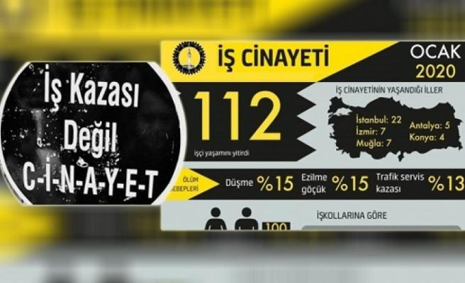 "İSİG: ""Ocak ayında 112 işçi yaşamını yitirdi"""